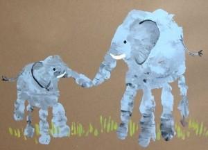 Activités manuelles / ateliers créatifs Elephant-Empreinte-300x216