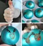 Décorer ses boules de Noël avec des petits rennes