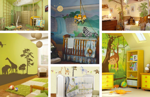 D co chambre b b savane jungle for Decoration chambre jungle