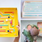 Labyrinthe à billes en carton