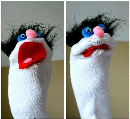Faire sa marionnette de chaussette - Comment faire une marionnette ...