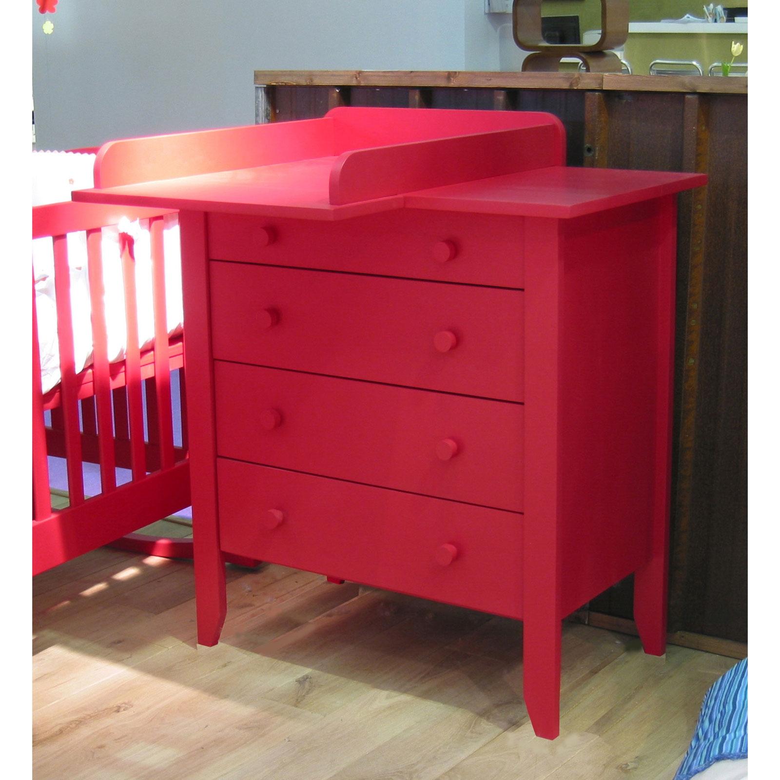 Chambre volutive mobilier durable berceau magique - Commode pour bebe meuble a langer ...