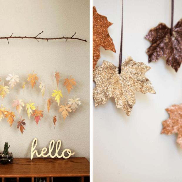 guirlande de feuilles mortes comment faire le mag. Black Bedroom Furniture Sets. Home Design Ideas