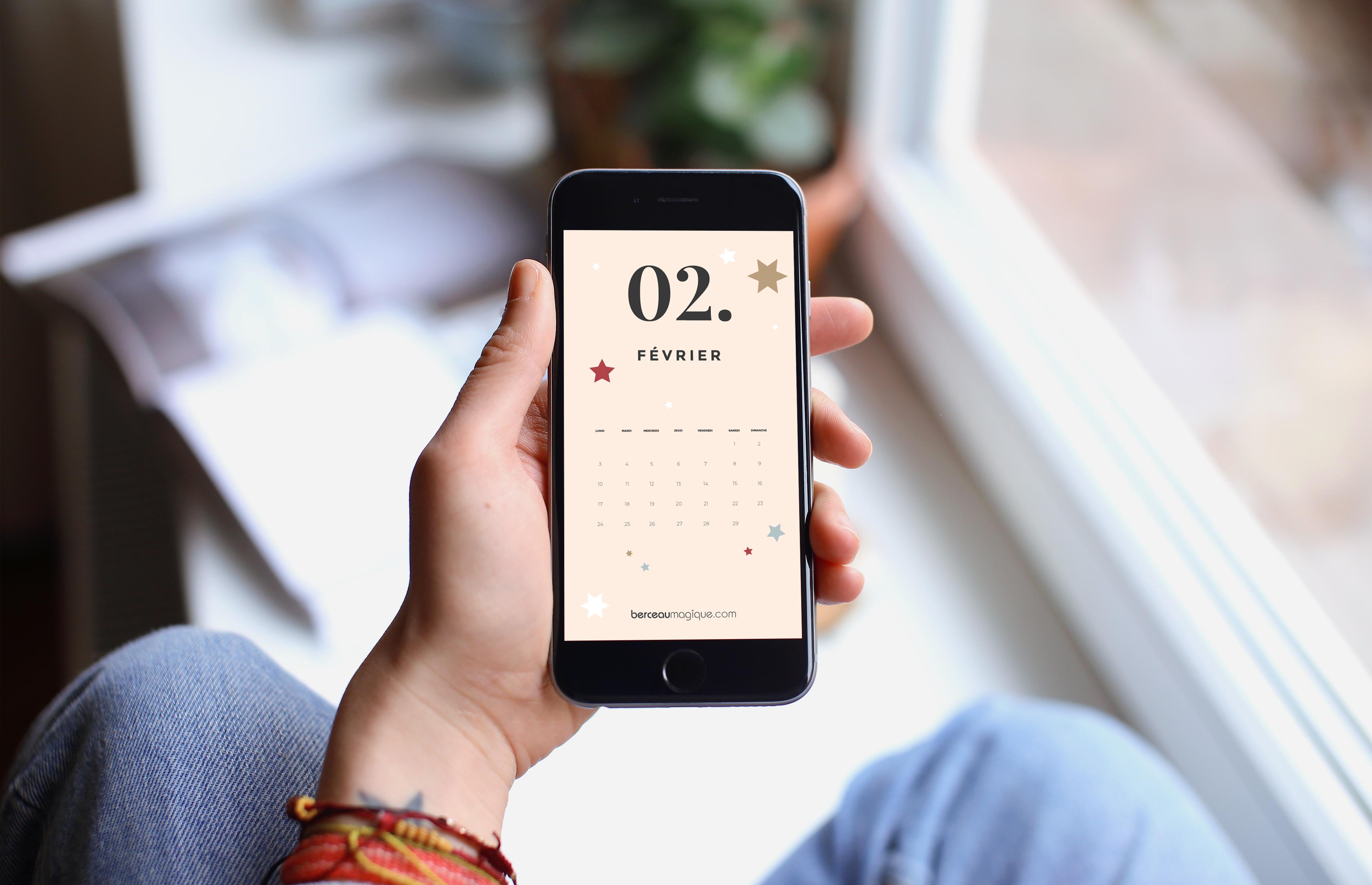 Fichier écran mobile calendrier 2020