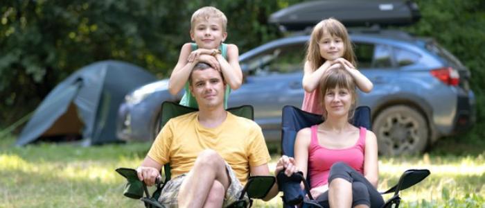 vacances au camping en famille avec 2 enfants