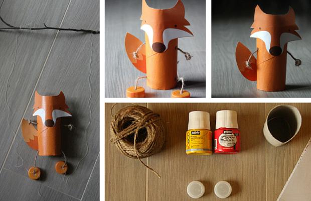 Marionnette renard fabriquez la votre berceau magique - Comment faire une marionnette ...