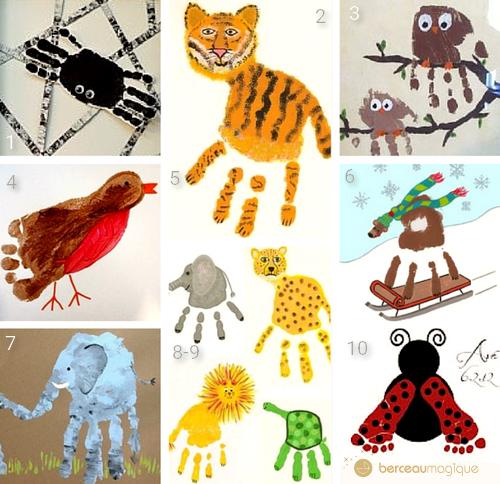 peinture animaux avec les pieds et les mains. Black Bedroom Furniture Sets. Home Design Ideas