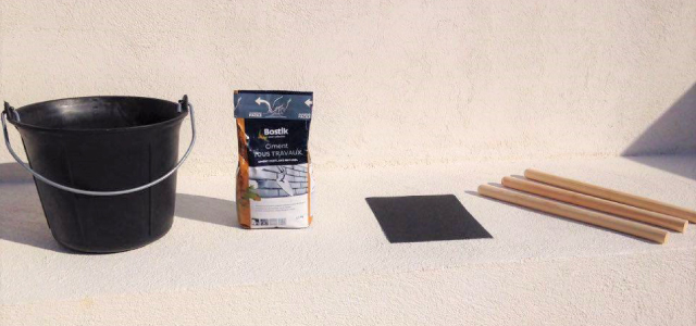 Matériel Tabouret en ciment DIY