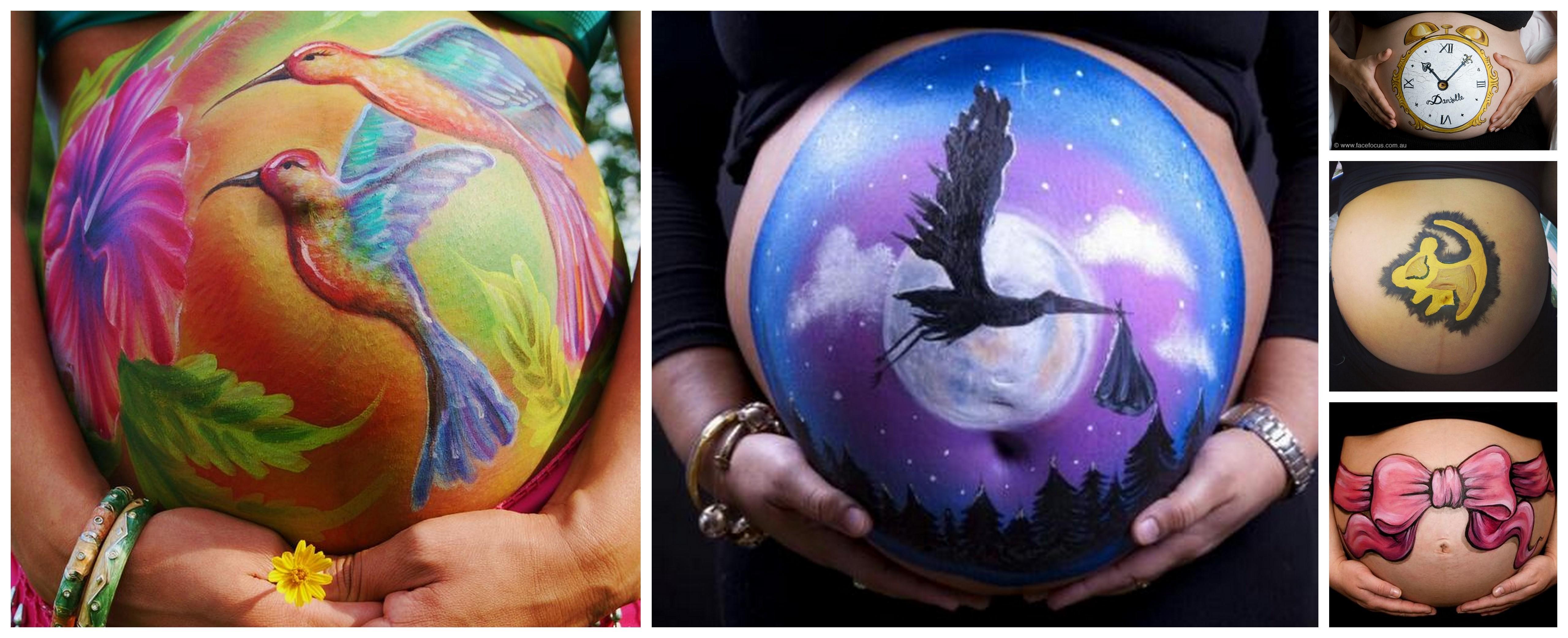 Super Belly Painting : Devez une oeuvre d'art | Berceau Magique KE86
