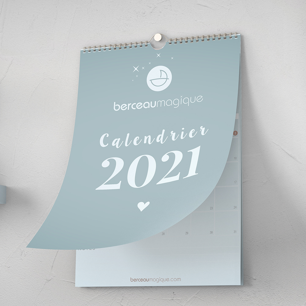 photo calendrier 2021 berceau magique