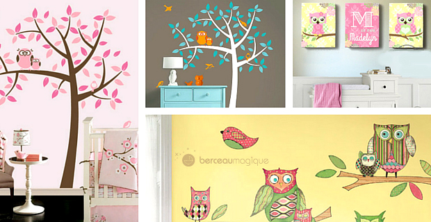 Deco hiboux chambre bebe for Decoration chambre hibou