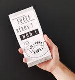 DIY fête des pères : des emballages pour tablettes de chocolat