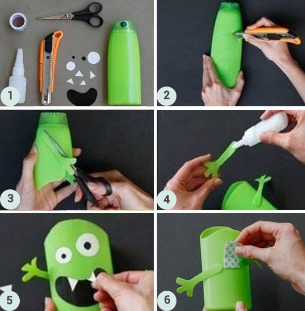 Etapes DIY Pots à crayons monstres