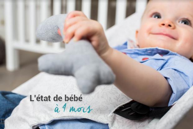 Le développement de bébé à 4 mois