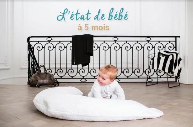 Le développement de bébé à 5 mois