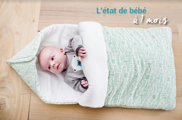 Le développement de bébé à 1 mois