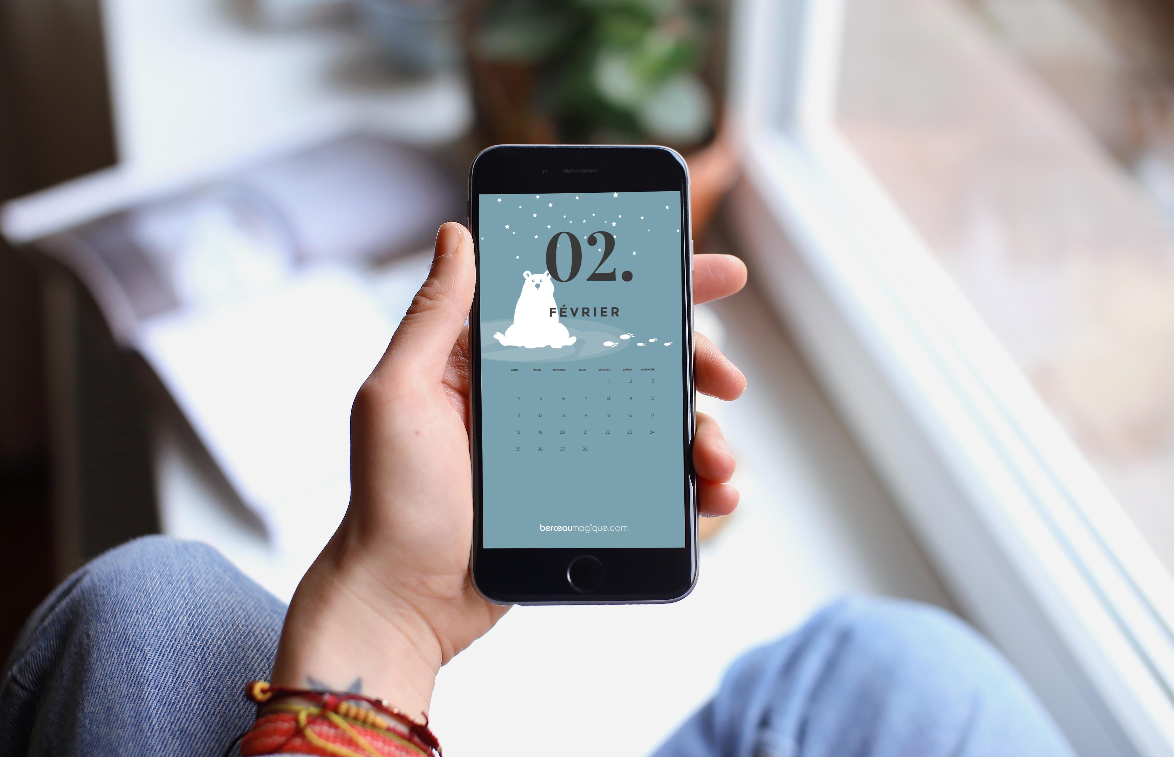 Fichier écran mobile calendrier 2019
