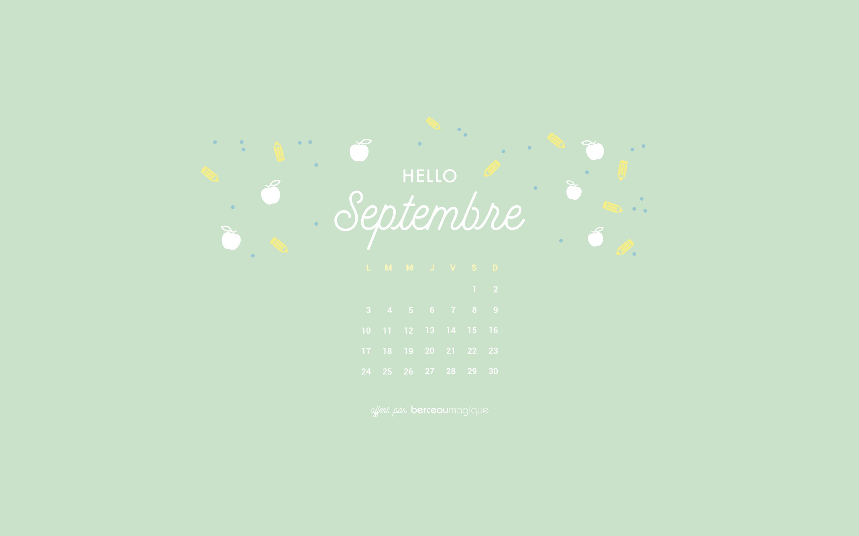 free printable calendrier de septembre 2018 berceau magique. Black Bedroom Furniture Sets. Home Design Ideas
