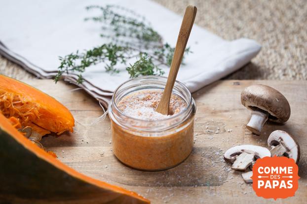 Petit gratin de potiron et champignons à la muscade | Recette Berceau Magique