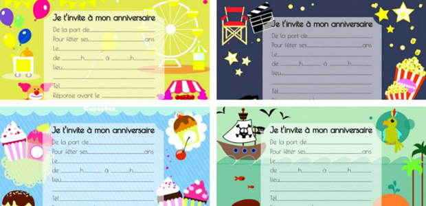 Top Invitation anniversaire enfant VE55