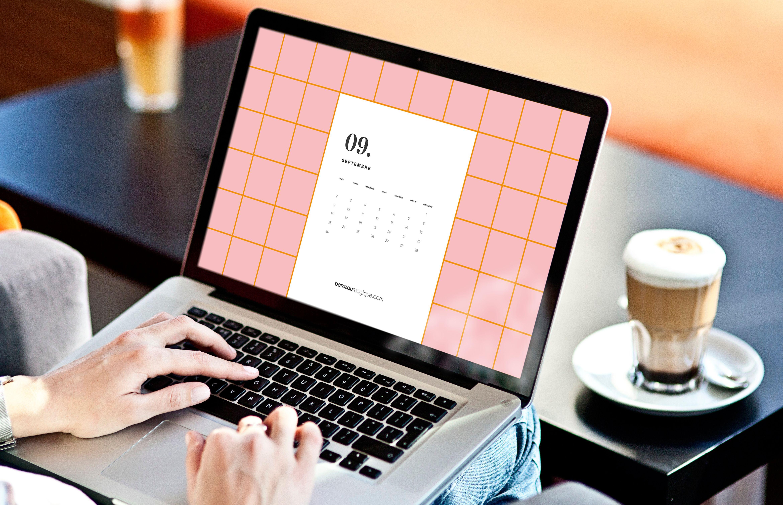Fond d'écran ordinateur calendrier septembre 2019