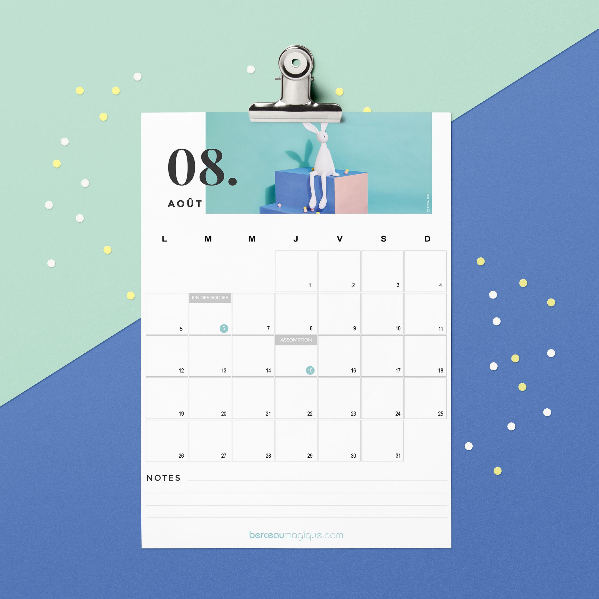 Calendrier août 2019