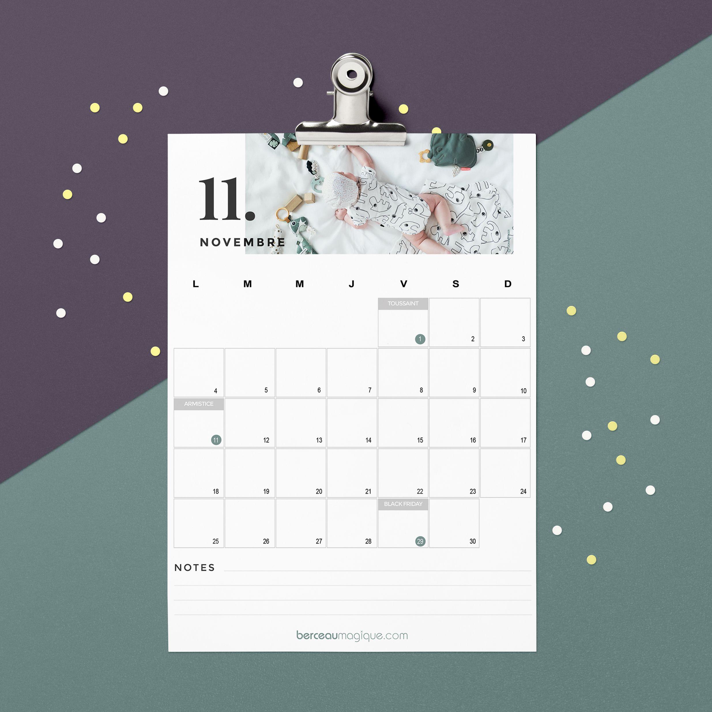 Printable calendrier novembre 2019
