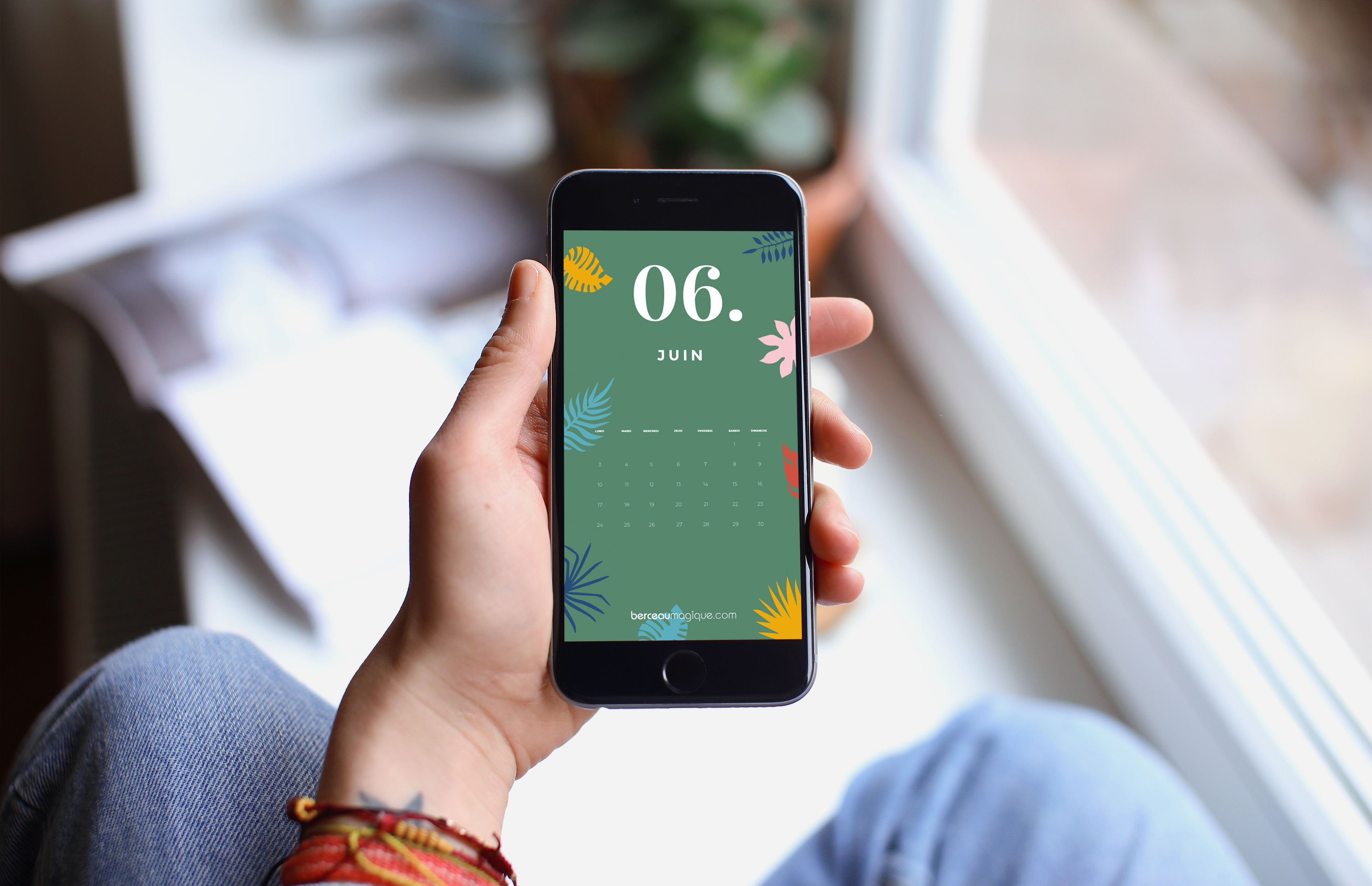 Fond d'écran mobile calendrier juin 2019