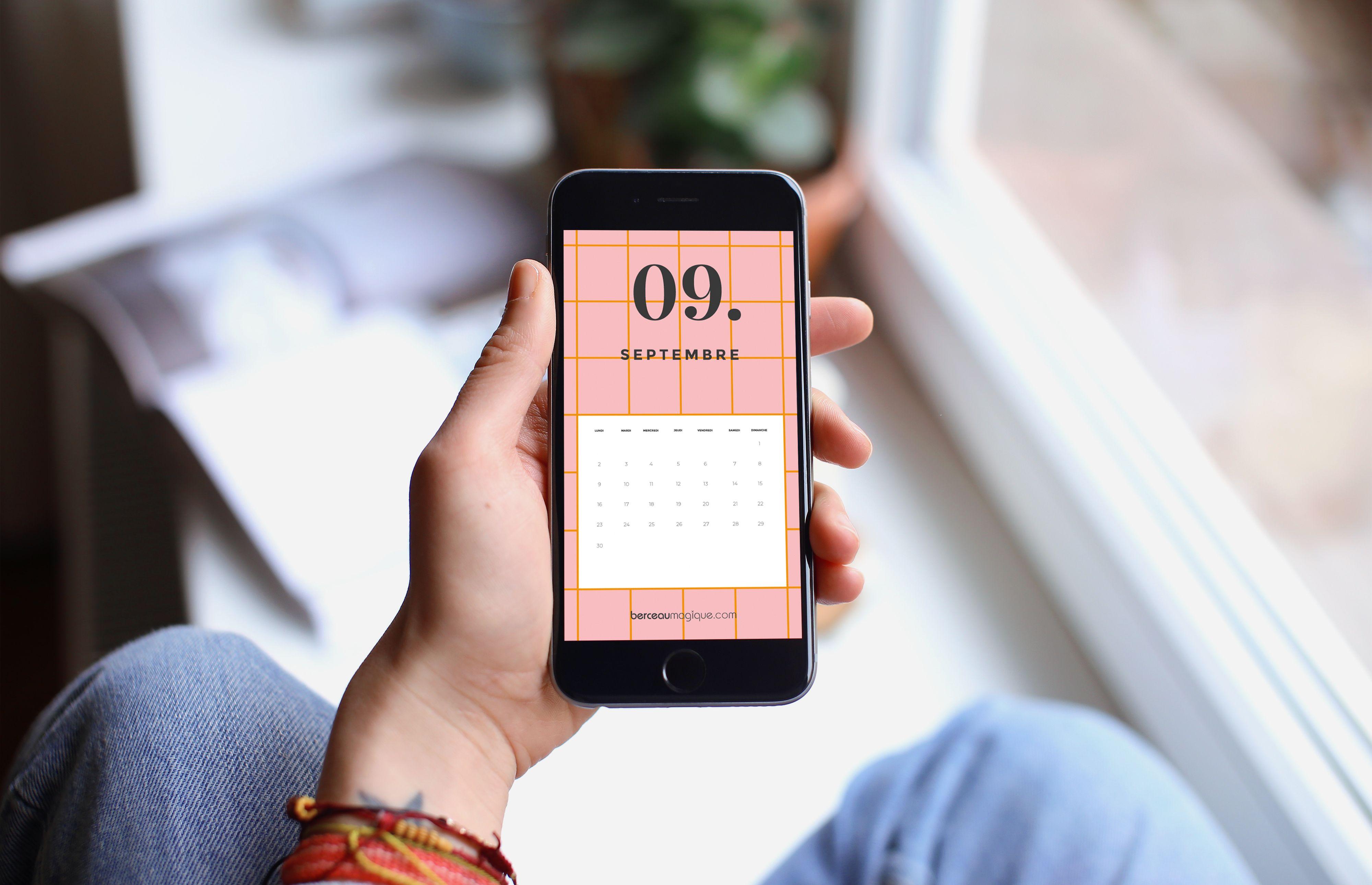 Fond d'écran mobile calendrier septembre 2019