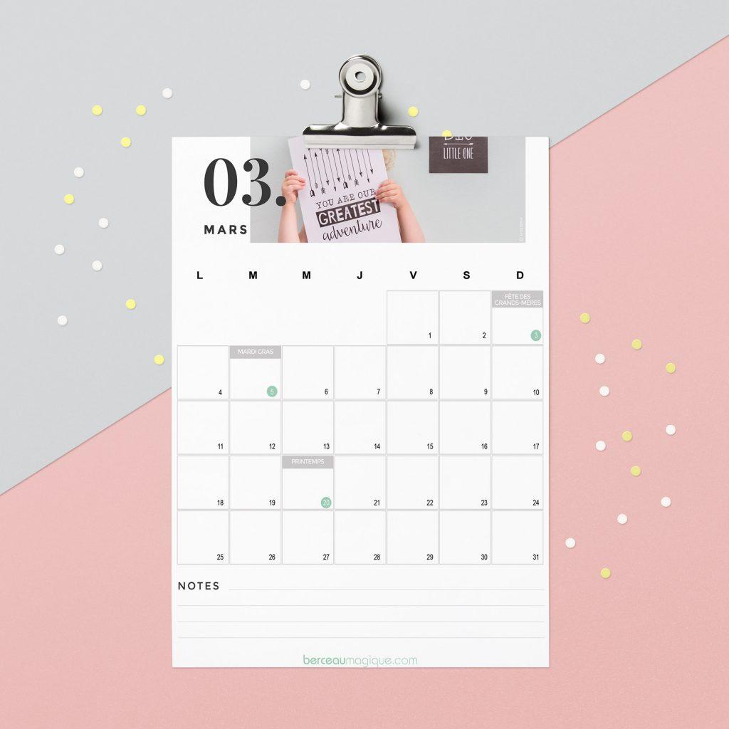 Calendrier De Mars 2019.Free Printable Calendrier De Mars 2019 Berceau Magique