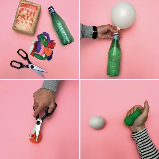 Fabriquer des balles anti stress berceau magique - Comment degonfler un ballon ...