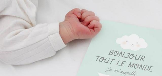 Cartes naissance bébé