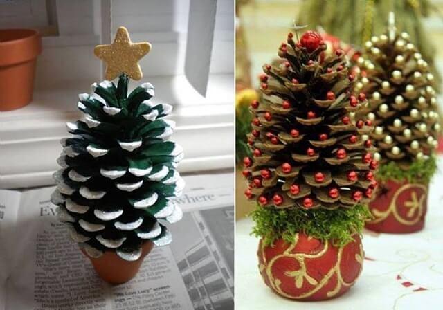 Captivant Faire Deco Noel Pomme De Pin