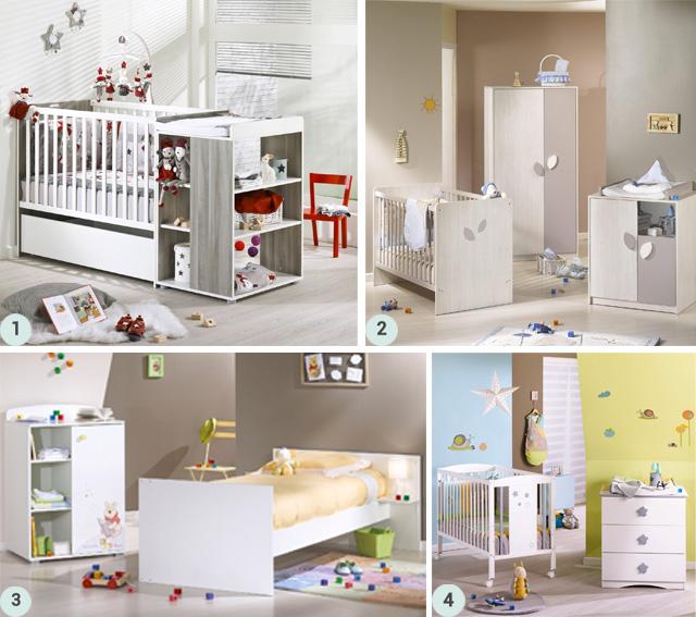 Zoom sur le mobilier sauthon berceau magique for Mobilier chambre bebe originale