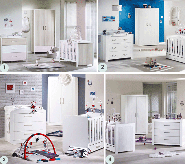 Zoom sur le mobilier sauthon berceau magique for Mobilier de chambre