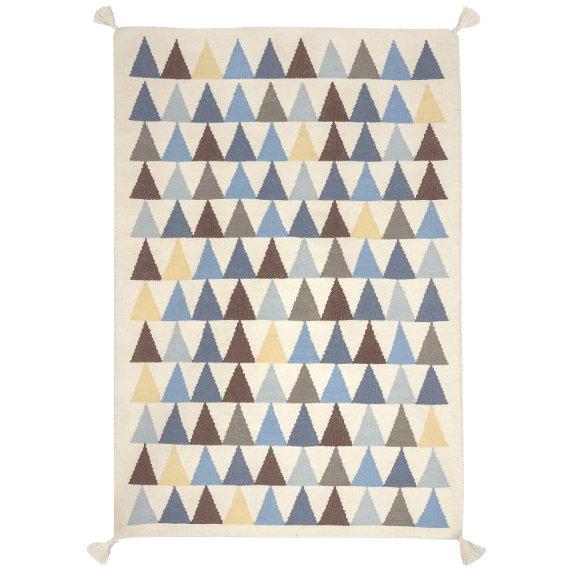 tapis indien triangles