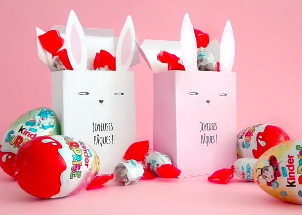 Printable pochettes pour chocolats de Pâques
